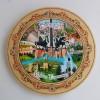 Дървена чиния Велико Търново пирография