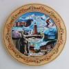 Дървена чиния Банско пирография