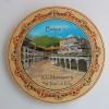 4.60лв Дървена чиния с пирография Рилски манастир
