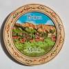 Дървена чиния сувенир с пирография МЕЛНИК