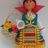 14лв. Сувенир Кукла момиче с кошница