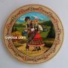 4.60лв Дървена чиния с фолклорни мотиви