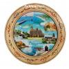 Чиния сувенир с пирография колаж Морски градове 15 см