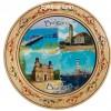 Чиния сувенир с пирография Бургас 15 см
