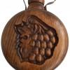 37.00 лв. Бъклица с дърворезба на гълъб и грозд