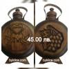45.00 лв. Дървена бъклица за младоженци с гравирани имена и датата на сватбата