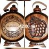 42.00 лв. Кумска бъклица с гравиране на дата със стъклена бутилка