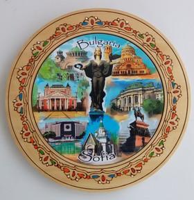 Дървена чиния София пирография