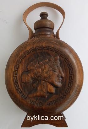 34.20 лв. Бъклица за вино с бог ДИОНИС от ОРЕШАК