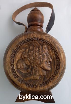 27.00  лв. Бъклица за вино с дърворезба на бог ДИОНИС