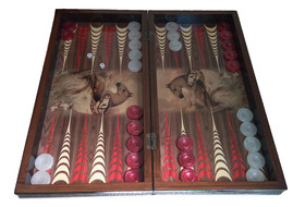 Табла за игра с прозрачни пулове и зарчета, 50х50