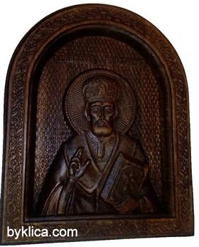 Икона с дърворезба на Свети Николай Чудотворец