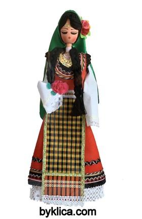 45.00 лв. Сувенир Дървена кукла с фолклорна носия