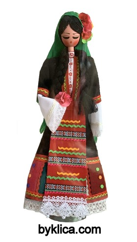 45.00 лв. Дървена кукла с фолклорна носия