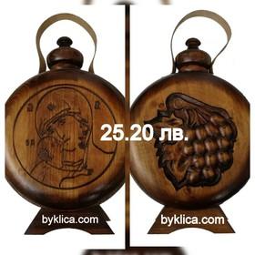 25.20 лв. Бъклица с дърворезба на Дева Мария с Младенеца