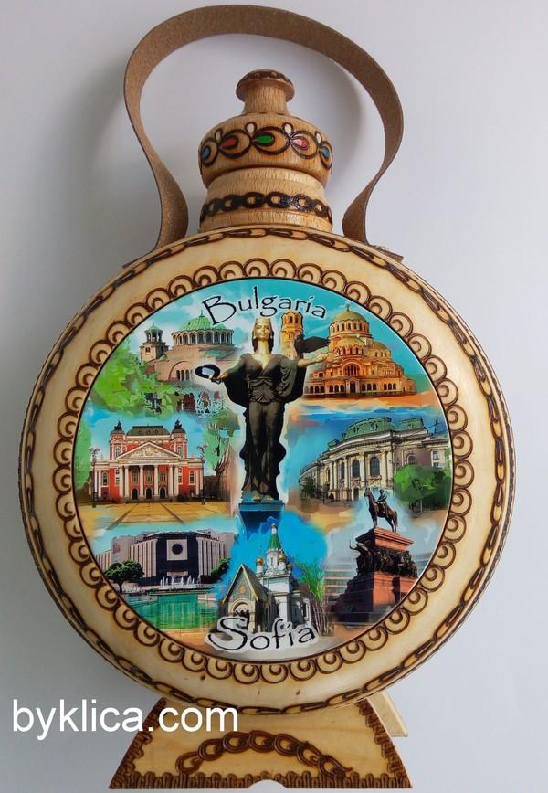 32.00 лв. Бъклица от дърво с пирография СОФИЯ