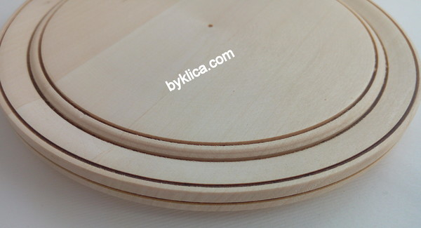 1.80лв Чиния на бяла заготовка за дърворезба 15см
