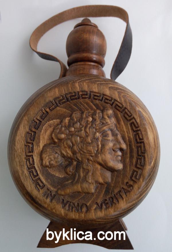 29.00  лв. Бъклица за вино с дърворезба на бог ДИОНИС