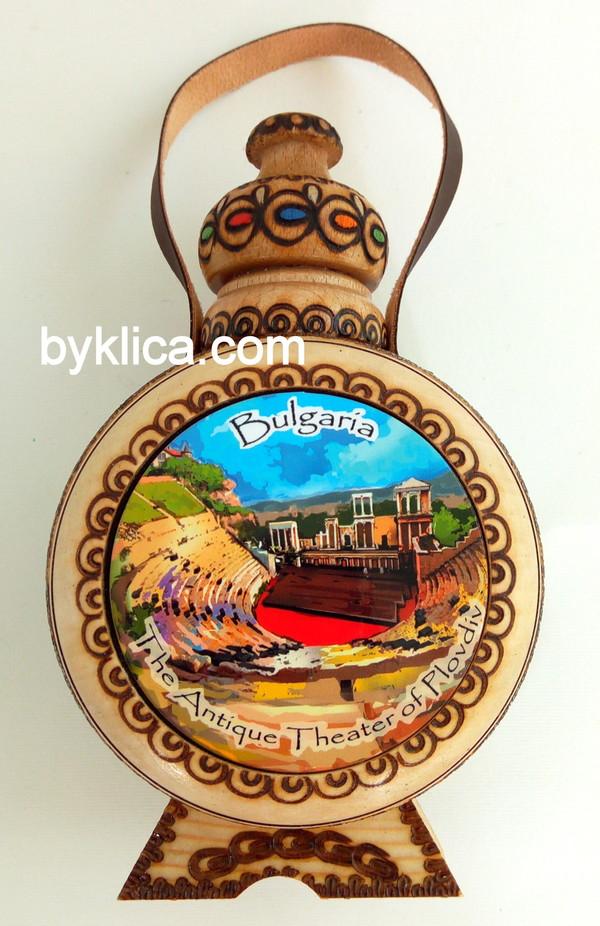9лв. Бъклица ПЛОВДИВ - АНТИЧЕН ТЕАТЪР с пирография
