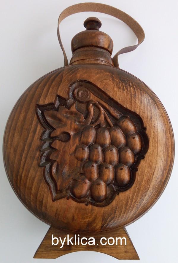 Бъклица с дърворезба на тъпан 1 литър
