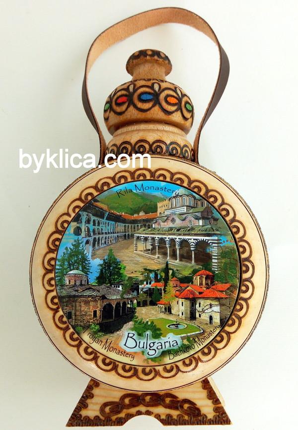 Бъклица с пирография Рилски манастир 200 мл