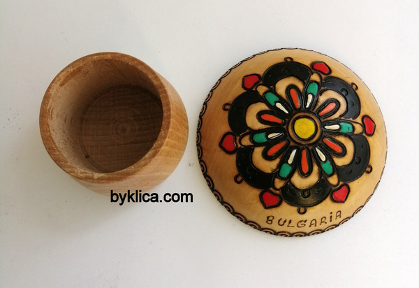 Кутия за бижута от дърво Розетка