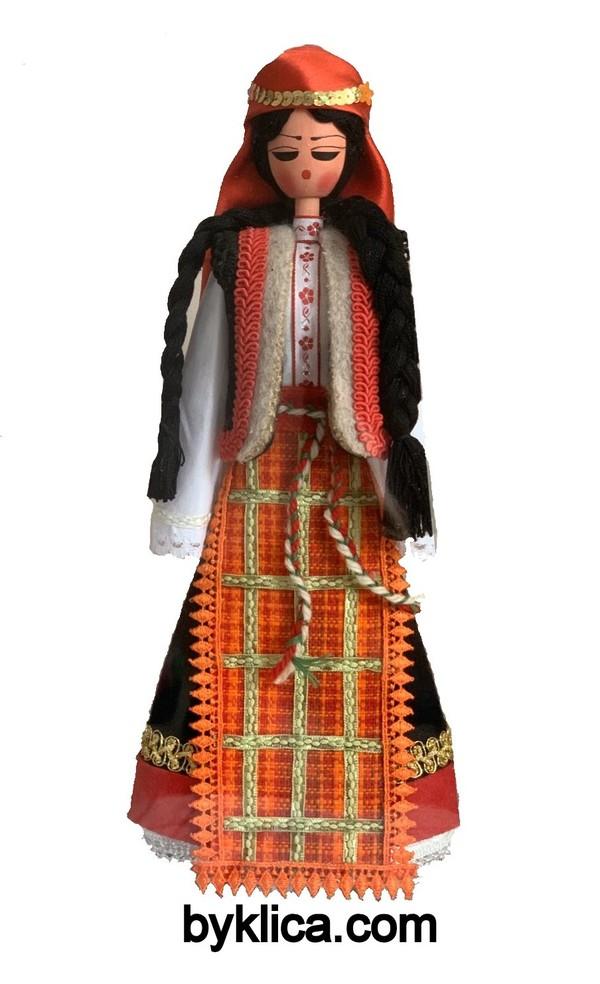 45.00 лв. Дървена кукла в народна носия РОДОПЧАНКА