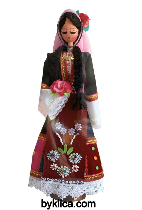45.00 лв Дървена кукла с фолклорна носия ТРАКИЙКА