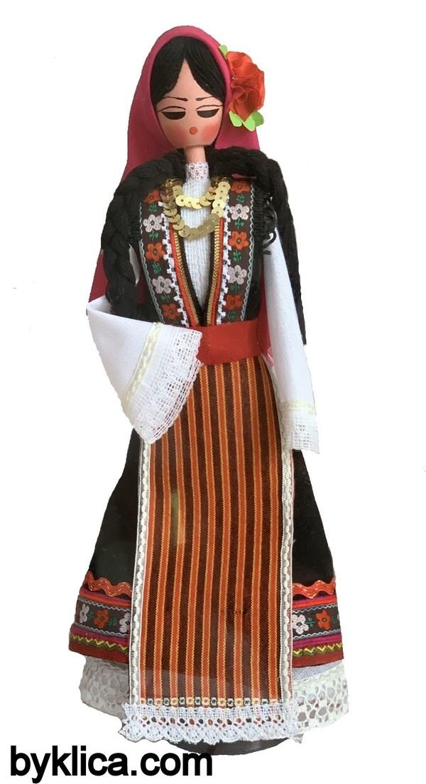 45.00 лв. Сувенир Кукла с фолклорна носия от България