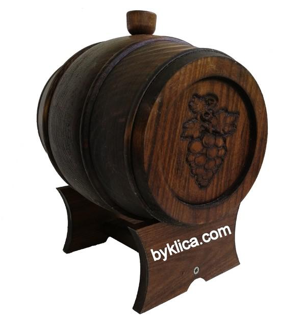 49.00 лв. Дървено буре с дърворезба 3 литра