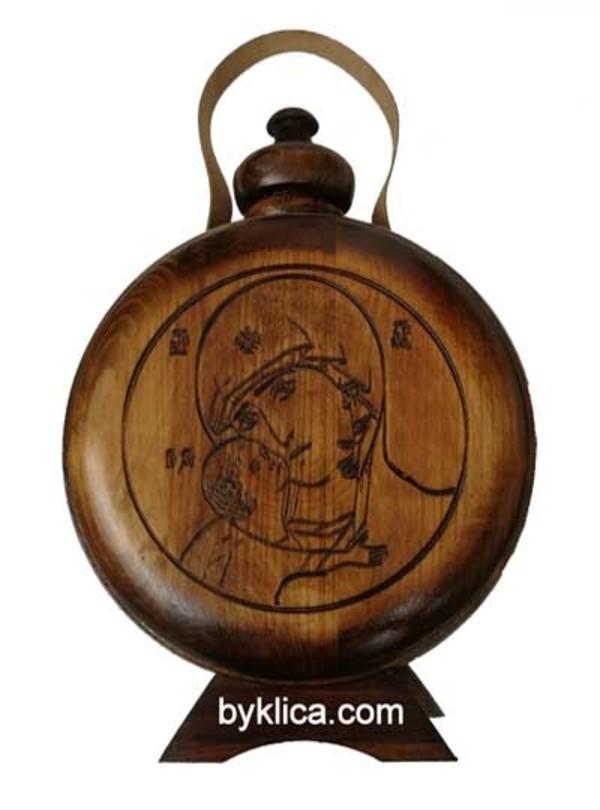 30.00 лв. Бъклица с дърворезба на Дева Мария с Младенеца