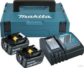 Комплект акумулаторни батерии и зарядно Li-Ion Makita , 18.0 V, 3.0 Ah, 2х BL1830, DC18RC