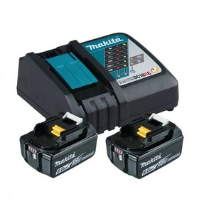 Комплект Makita - две батерии 18V, 6Ah BL1860B и зарядно DC18RC