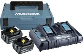 Комплект Makita - две батерии 18V, 5Ah BL1850B и двойно зарядно DC18RD