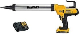 Пистолет акумулаторен за силикон и лепила Dewalt DCE580D1, 18V, 2.0Ah