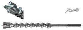 Свредло ф40 мм за армиран бетон SDS-max с 4 пластини и KVS спирала, Ritter, 250/370 мм, Zentro MAX
