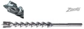 Свредло ф40 мм за армиран бетон SDS-max с 4 пластини и KVS спирала, Ritter, 450/570 мм, Zentro MAX
