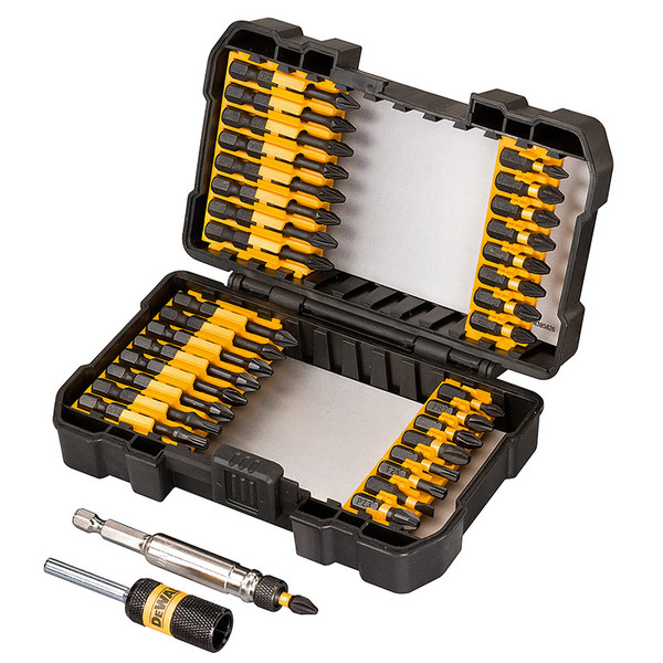 Накрайник с магнитен държач комплект PH/PZ/TX/SB 34 бр, ударни, Dewalt DT70545T