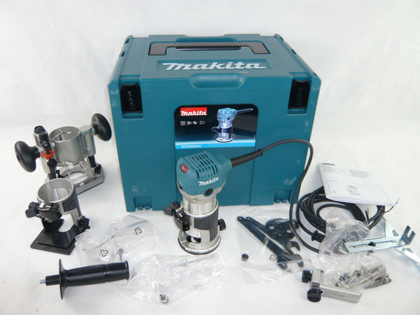 Фреза дърводелска Makita RT0700CX2J, 710 W,  ф 6-8 мм