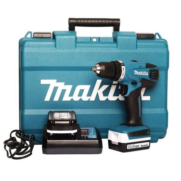 Винтоверт акумулаторен Makita DF347DWE, 14.4 V, 1.5 Ah