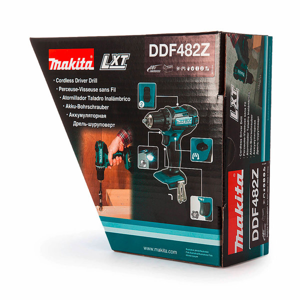Винтоверт акумулаторен Makita DDF482Z, 18.0 V (само боди)
