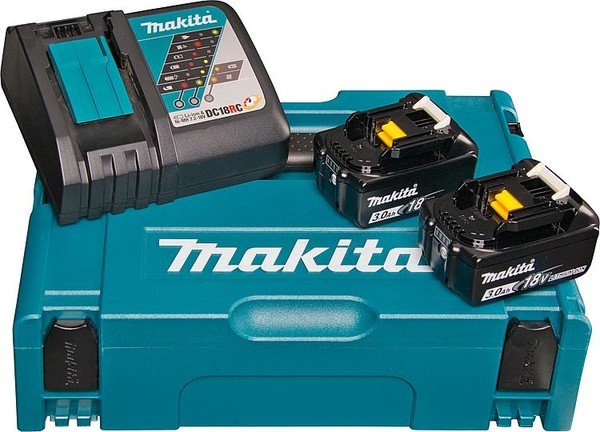 Комплект Makita - две батерии 18V, 3Ah BL1830 и зарядно DC18RC
