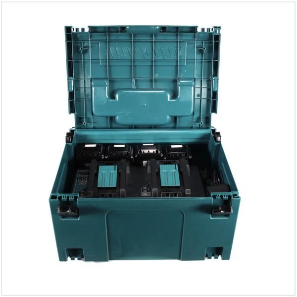 Комплект Makita - четири батерии 18V, 3Ah BL1830 и двойно зарядно DC18RD