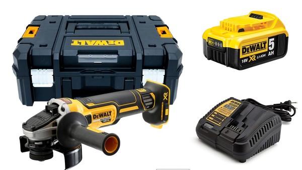 Акумулаторен ъглошлайф DCG405NT + една батерия 18V, 5.0Ah и зарядно