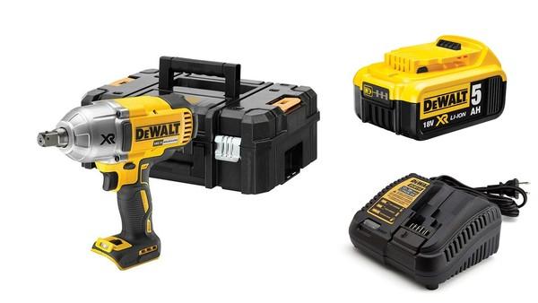 Акумулаторен гайковерт Dewalt DCF899NT + една батерия 18V, 5.0Ah и зарядно
