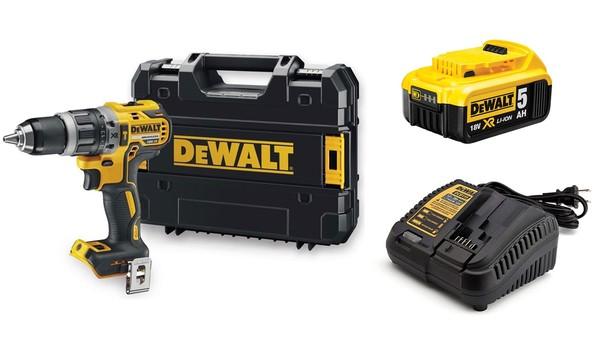 Акумулаторен ударен винтоверт Dewalt DCD796NT + една батерия 18V 5.0Ah и зарядно
