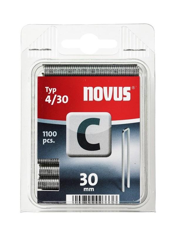 Скоби за такери Type C4, 6.1х30х1.1 мм, 1100 бр. Novus