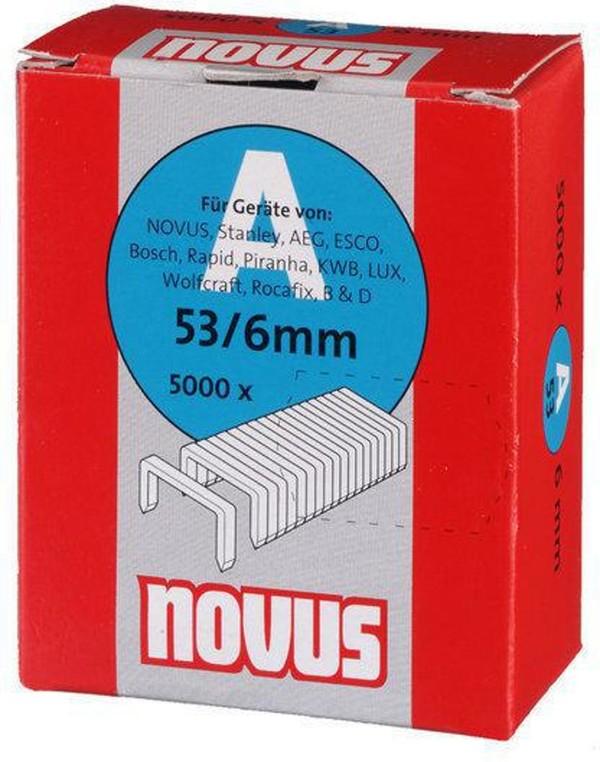 Скоби за такери Type A53, 11.3х6х0.75 мм, 5000 бр. Novus
