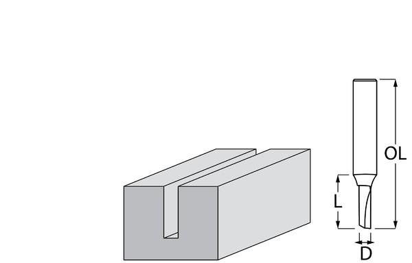 Фрезер за дърво профилен прав, без лагер ф 4х13 мм, 51 мм, ф 8 мм Makita