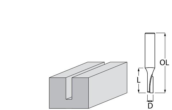 Фрезер за дърво профилен прав, без лагер ф 5х13 мм, 48 мм, ф 8 мм Makita